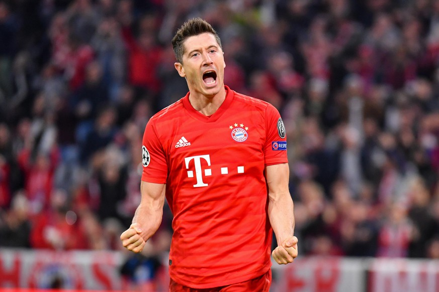 SOCCER - CL, Bayern vs Red Star MUNICH,GERMANY,18.SEP.19 - SOCCER - UEFA Champions League, group stage, FC Bayern Muenchen vs Red Star Belgrade. Image shows the rejoicing of Robert Lewandowski (Bayern). PUBLICATIONxINxGERxHUNxONLY GEPAxpictures/xUlrichxGamel