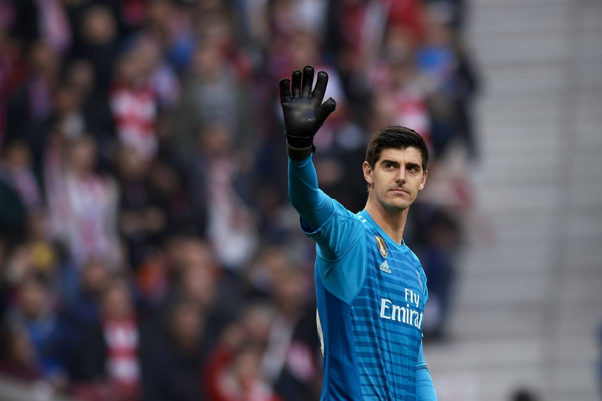 February 9, 2019 - Madrid, Madrid, Spain - Thibaut Courtois of Real Madrid during the week 23 of La Liga between Atletico Madrid and Real Madrid at Wanda Metropolitano stadium on February 09 2019, in Madrid, Spain. Atletico Madrid V Real Madrid - La Liga PUBLICATIONxINxGERxSUIxAUTxONLY - ZUMAn230 20190209_zaa_n230_1824 Copyright: xJosexBretonx