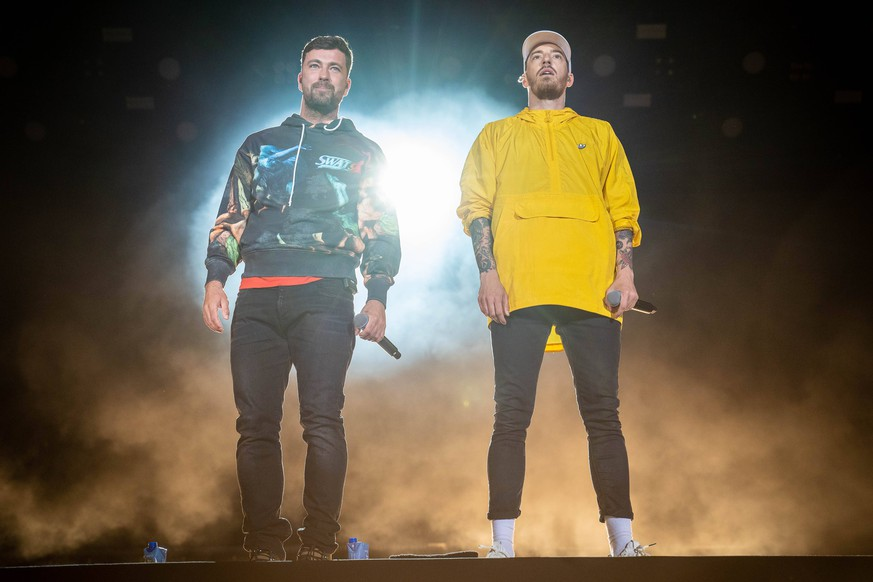 Nuerburg Rock am Ring 2019, Tag 3, 10.06.2019 Casper+Marteria, Benjamin Griffey, Casper und Marten Laciny, Marteria Rock am Ring 2019 Tag 3 *** Nuerburg Rock am Ring 2019, Day 3, 10 06 2019 Casper Marteria, Benjamin Griffey, Casper and Marten Laciny, Marteria Rock am Ring 2019 Day 3 Copyright: xDanielxReinelt/xEibner-Pressefotox EP_drt