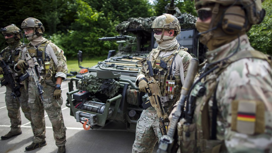 Soldaten des Kommando Spezialkraefte ( KSK 9. Calw, 14.07.2014. Calw Deutschland PUBLICATIONxINxGERxSUIxAUTxONLY Copyright: xThomasxTrutschelx