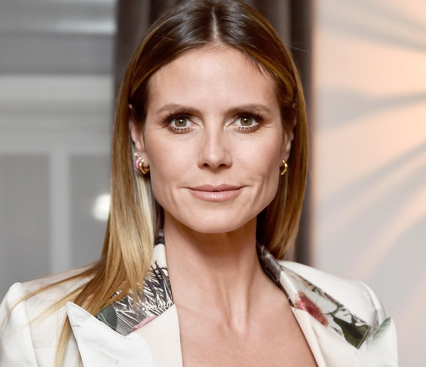 LOS ANGELES, CA - JANUARY 17:  Heidi Klum attends the Wolk Morais Collection 6 Fashion Show at The Hollywood Roosevelt Hotel on January 17, 2018 in Los Angeles, California.  (Photo by Frazer Harrison/Getty Images for Wolk Morais)