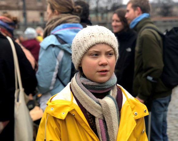 Swedish 16-year-old environmental activist Greta Thunberg attends a protest next to Sweden's parliament in Stockholm, Sweden March 8, 2019. Picture taken March 8, 2019. REUTERS/Ilze Filks