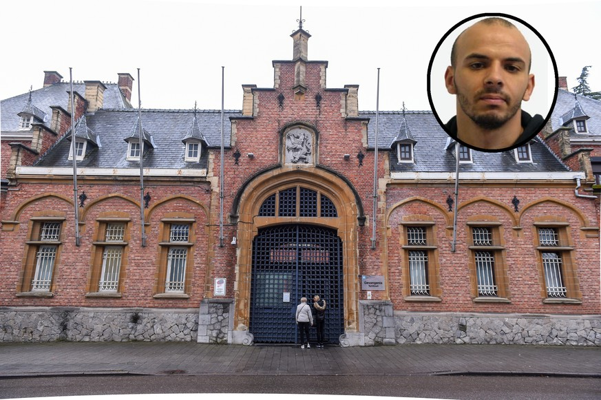 20.12.2019, Belgien, Turnhout: Illustration picture shows the Turnhout prison, in Turnhout, Friday 20 December 2019. On Thursday evening, five prisoners managed to escape after the daily 'walk'. They climbed over a 6m high wall and fled in an escape car. Three of them were already caught Thursday night. Two others are still at large BELGA PHOTO LUC CLAESSEN Foto: Luc Claessen/BELGA/dpa |