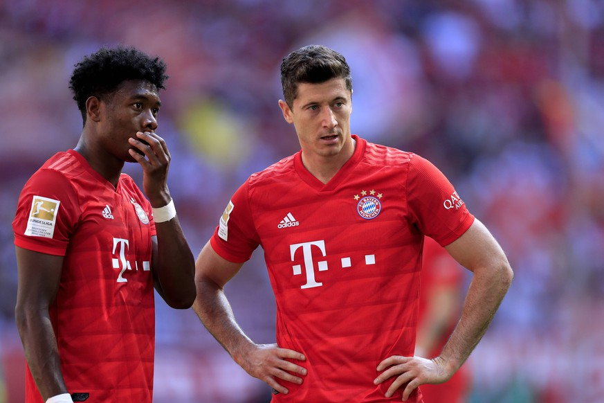 LEWANDOWSKI Robert Team FC Bayern Muenchen Mit ALABA David DFL Fussball Bundesliga Saison 2019-2020 Spiel FC Bayern Muenchen - Mainz 05 am 31. August 2019 in der Allianzarena DFL REGULATIONS PROHIBIT ANY USE OF PHOTOGRAPHS as IMAGE SEQUENCES and/or QUASI-VIDEO *** LEWANDOWSKI Robert Team FC Bayern Muenchen With ALABA David DFL Soccer Bundesliga Season 2019 2020 Match FC Bayern Muenchen Mainz 05 on 31 August 2019 in the Allianzarena DFL REGULATIONS PROHIBIT ANY USE OF PHOTOGRAPHS as IMAGE SEQUENCES and or QUASI VIDEO PUBLICATIONxINxGERxSUIxAUTxHUNxSWExNORxDENxFINxLUXxONLY
