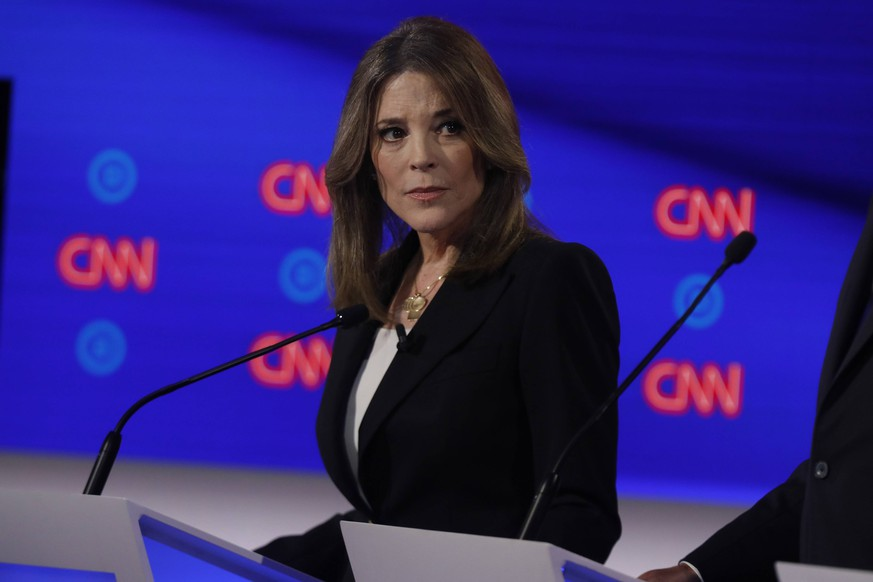 Author Marianne Williamson participates on the first day of the CNN Democratic Presidential Debate at the Fox Theater in Detroit on Tuesday, July 30, 2019. PUBLICATIONxINxGERxSUIxAUTxHUNxONLY DET20190730240 JohnxNowak/CNN